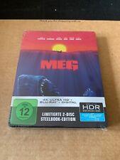 The Meg - 4K UHD - Blu-ray Steelbook - NEW & SEALED - All Regions Jason Statham
