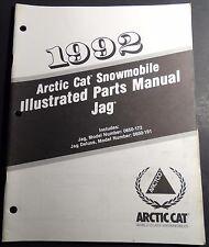 1992 Arctic Cat Jag Snowmobile Parts Manual P/N 2254-750 (125)
