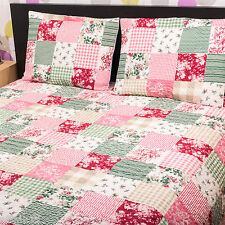Indian Jaipur Patch Double King Cotton filled Quilt Throw Bedspread Pillow Cover