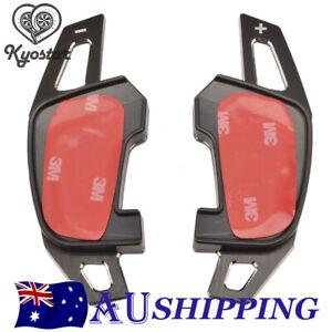 For VW Golf 7 MK7 GTI Aluminum Metal Brush Paddle Shift Shifter Extension Black