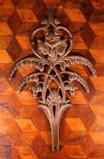 1x Vintage French Empire Brass Bronze Rococo Furniture Pediment Embellishment !!