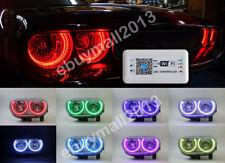 WIFI RGB Halo Rings Angel Eyes For Dodge Challenger 2008-2014 Devil Demon Corona