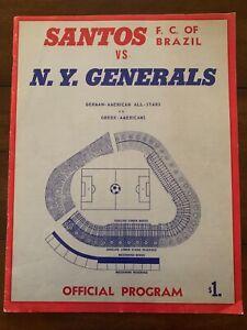 1967 NY GENERALS - SANTOS PROGRAM FROM YANKEE STADIUM, PELE