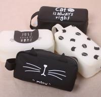 New Silicone Cat Makeup Cosmetic Case Pen Pencil Bag Zipper Coin Pouch Purse