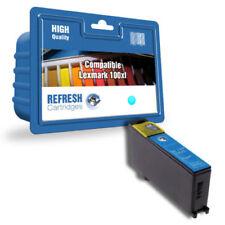 Cartouches d'encre cyan Lexmark pour imprimante, de compatibles