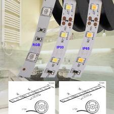 12V 5M Meter LED Strip RGB Warm Neutral Cool White Kitchen 5050 2835 8mm 10mm