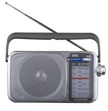 QFX R-24 Portable Tune-In & Listen AM/FM/SW1/SW2 Radio Retro