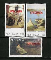 Australia Stamps 1984 $2 $5 $10 Specimens XF OG NH