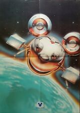 RARE  THE DISNEY CHANNEL 1981 ADVERTISING POSTER MICKEY MOUSE DISNEYLAND WALT