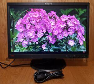"Lenovo 22"" inch Widescreen DP (DisplayPort) DVI VGA Monitor. ThinkVision Lenovo"