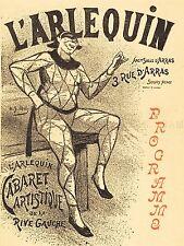 Henri GABRIEL IBELS L'ARLEQUIN français vieille peinture Poster Print bb5618a