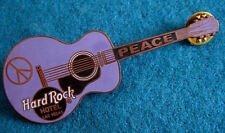 LAS VEGAS HOTEL PROTOTYPE SAMPLE PINK PEACE GIBSON GUITAR Hard Rock Cafe PIN