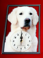 Horloge pendule chien golden retriever 8 clock dog uhr hund reloj