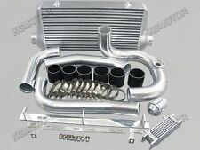 For Toyota Supra MK4 2JZ-GTE intercooler kit 93-02 + BOV Black