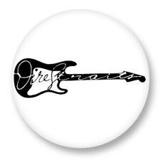 "Pin Button Badge Ø25mm 1"" Dire Straits Country Rock Mark Knopfler David Knopfler"
