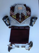 OFFICIAL ROY ROGERS COSTUME & ACCESSORIES MIB 1950's w SPURS & CUFFS