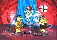 Flintstones Cel Art Class 3X Signed Hanna Barbera Ed Benedict Animation Cell