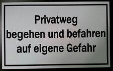"""* Schild weiss """"Privatweg"""" - 250 x 150 mm *"""