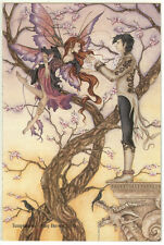 Amy Brown Print Temptation Fairy Girl Boy Man Couple Romance Boyfriend Fantasy