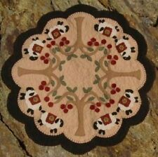 Prim Sheep & Cherry Trees Penny Rug/CandleMat *PATTERN*