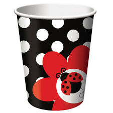 8 X Ladybug Fancy Cups 20375019 Party Baby Shower 1st Birthday Ladybird