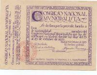Tarjeta de Renfe para el Congreso Nacional Municipalista en Madrid   Ref.M630