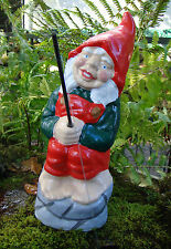 Fishing Garden Gnome ~ Dumpty ~ Handmade by Pixieland (Concrete)