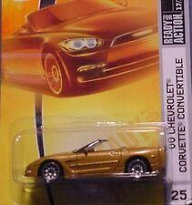 2008 New Matchbox Gold Metallic 2000 Chevrolet Corvette Convertible