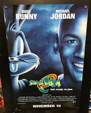 1996 SPACE JAM Rolled One Sheet 27 x 41 Double Sided Movie Poster Michael Jordan