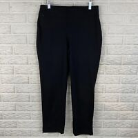 Zenergy Chicos Women Athletic Pull On Pants Size 1 Medium Ankle Black Stretch