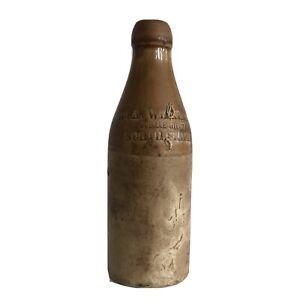 Bouteille de Bière en grès anglaise 1890 Jubilee stout North Shields Wilkinsons