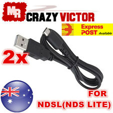 2x 1M USB Power Charging Charger Sync Data Cable Cord Nintendo DS Lite NDS NDSL
