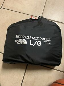 The North Face Golden State Duffel Waterproof Bag 90L Blue Teal Large