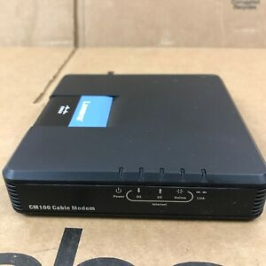 Cisco-Linksys Cable Modem CM100 USB Ethernet Connections - No Power Cord 6.B1