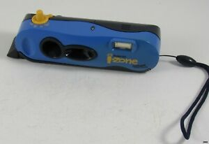 Vintage Polaroid I-Zone Instant Pocket Camera : Blue and Yellow : Working
