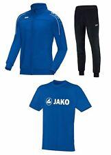 JAKO Trainingsset Trainingsanzug + T-Shirt blau S M L XL XXL 3XL 4XL 9350