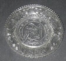 Westmoreland Glass EAGLE 1831 Clear/Stippled Cup PLATE Patriotic 5 Stars Pressed