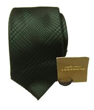 "Burberry Men's Green Patterned Graphic 2.75"" Silk Tie Made in Italy"