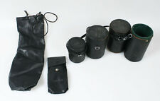 HARD LENS CASES, ONE SOFT TELEPHOTO LENS CASE AND FLASH CASE - SET OF 6
