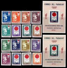 PARAGUAY. Summer Olympic Games. 1964. Scott 791-798+Imperf.  MNH (BI#24)