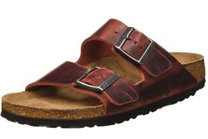 Birkenstock ARIZONA Earth Red Leather Soft Footbed 1015545 Narrow EU 35