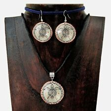 Artisan Copper Sea Turtle Pendant Necklace and Earring Set