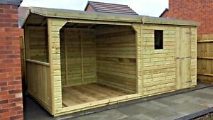 16x8ft GAZEBO WOODEN GARDEN SHED/OFFICE/GARAGE 8FT HOT TUB DESIGN