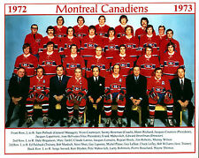 Montreal Canadiens 1972-73 Championship Team - 8x10 Color Photo