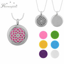 24inch Aromatherapy Essential Oil Necklace Fragrance Diffuser Pendant Locket Rose Black (6 Pcs)