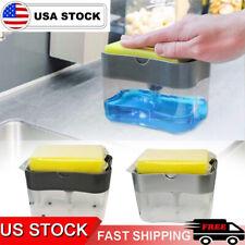 Soap Dispenser for Kitchen + Sponge Holder 2-in-1 - Quality Dish Soap Dispenser