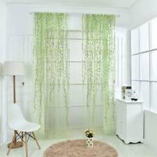 Rideau de Fenêtre en Voile d'Osier Voilage Décor pour Maison Vert 200x250cm