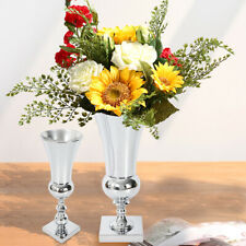 Stunning Silver Iron Luxury Flower Vase Urn Wedding Table Centrepiece 40cm UK