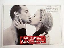 Carte Editions Atlas. Slogan Publicitaire 1992 Monoprix Uniprix