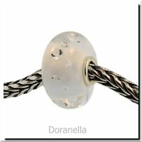 Authentic Trollbeads Glass 81001 The Diamond Bead, White :1
